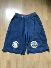 Mens Evisu Mighty Ichiban Shorts Size Medium Blue Knit Sweatpants