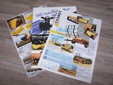Lot de 3 Prospectus/Brochure/Prospekt agricoles/tracteurs COSNET (500)