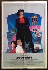 ZOOT SUIT 1981 Edward James Olmos 1940s Hispanic Culture ORIGINAL MOVIE POSTER