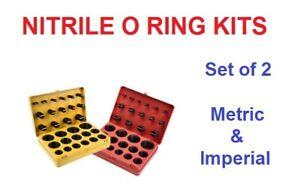 NITRILE O RING KITS IMPERIAL & METRIC [SET OF 2] BOX 'H' & BOX 'G' 70 SHORE