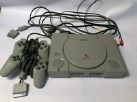 Sony Playstation PS1 Console w/ 2 controllers 14 games Tomb Raider Rainbow Six