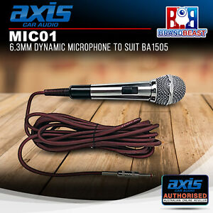 Axis MIC01 6.3mm Dynamic Microphone to Suit BA1505