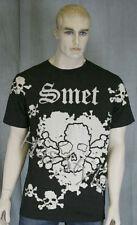 SMET by Audigier Messy SKULL Black STONES T-Shirt XL
