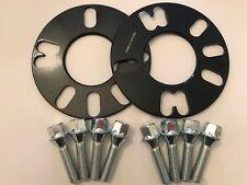 2 X 5 mm Bimecc Aleación Separadores De Rueda 65.1 + M12X1.25 Plata PERNOS PEUGEOT 4X108 B
