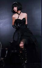Rq-Bl black gothic strapless dress