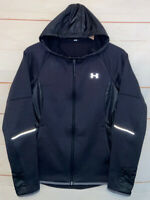 Womens UNDER ARMOUR UA Swacket Softshell Jacket Hoodie Storm Black Small 1283259