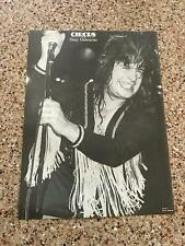 1982 Vintage 8X11 Magazine B&W Photo Clipping Of Ozzy Osbourne Black Sabbath