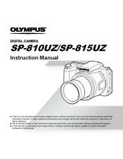 OLYMPUS SP-810 UZ DIGITAL CAMERA PRINTED INSTRUCTION MANUAL USER GUIDE 77 PAGES