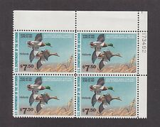 US RW47 Hunting Permit Duck Stamp Mint Plate Block of 4 VF-XF OG NH