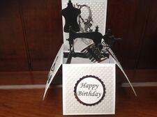 Handmade Sewing themed birthday pop up card