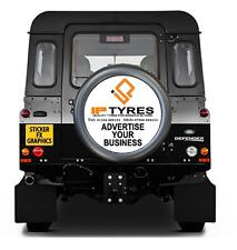 SPARE WHEEL COVER Printed Sticker Advertise your Business Personalised Designs