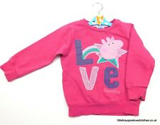 2-3 years girls Young Dimension purple jumper Peppa Pig LOVE