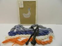 Canvas Goose Needlepoint Cotton Floss and Wool