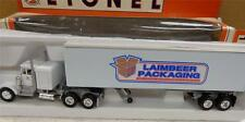 NEW LIONEL 12932 LAIMBEER PACKAGING  TRACTOR/TRAILER- 0/027 - MINT- S1