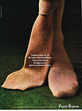 PUBLICITE ADVERTISING 014   1972   PUNTO BLANCO    chaussettes