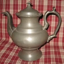 "Mid 19th Century American Pewter Coffee Pot marked '8' Exc. Condition 10-1/2"" h."