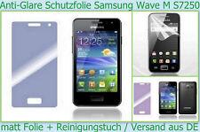 3 x Anti Reflex Glare Display schutz folie Samsung Wave M S7250 3-lagig matt SET