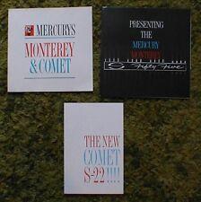 Original 1962 Mercury Monterey Comet Sales Brochure Lot of 3 62