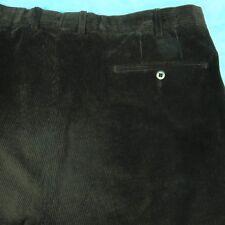 Ermenegildo Zegna Brown Corduroy Pants Cotton Cashmere Pleated Cuffs Golf 36x32