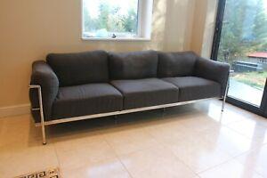 le corbusier LC3 sofa 3 seater fabric rare