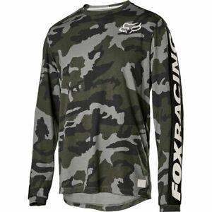 Fox Racing Ranger Dri-Release Fox Long Sleeve L/S Jersey Green Camo