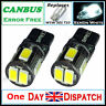 T10 CAR BULBS LED ERROR FREE CANBUS 6 SMD XENON WHITE W5W 501 SIDE LIGHT BULB