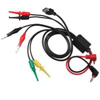 Multimeter Test Lead Kit w/ Alligator Clips Banana Plugs Hook Clips USB Port
