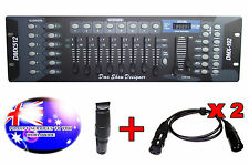 From OZ Quality DMX Light Lighting Controller 192Ch Inc 1 Terminator &2 Cable FP