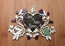 3D Printed Nightmare Before Christmas Inspired Room Sign / Wall Plaque