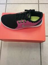 NEW Nike Free RN CMT(GS) Running Girls Shoes Shoes Black / Rose  Sz 4.5 Youth