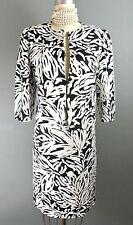 WEILL Paris Women's 2pc Skirt Suit Set Black/White FORMAL SILK L Geometric *1008