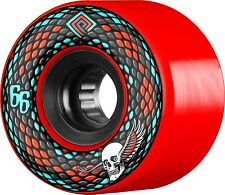 Powell Peralta Snakes 66mm Red Skateboard Cruiser Wheels