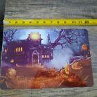 Creepy Haunted House Halloween 8x12 Metal Wall Sign