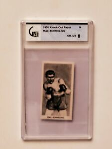 1938 Cartledge Knockout Razor Famous Prize Fighters #29 Max Schmeling GAI 8