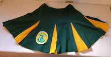 Vintage Bristol Cheerleader skirt w/ COBRAS patch size Medium Green Gold LARP
