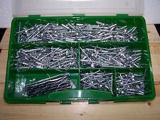415tlg Sortiment Ø5mm Blindniete f. dünne Bleche und Ø5,1mm Bohrer A/S Flachkopf