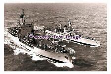 rs0062 - Royal Navy Warship - HMS Ajax F114 & Tanker RFA Gold Rover - photograph