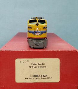 S. Soho+Co. #1005 - Brass HO Scale - Union Pacific Gas Turbine #50