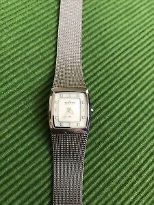 Skagen womens watch, mother of pearl, diamonds,stainless steel,made in Danmark