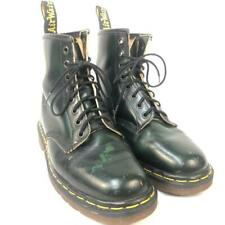 VINTAGE DR MARTENS DOCS 1460 8 EYE GREEN TINT LEATHER BOOTS UK 6 US 8 ENGLAND