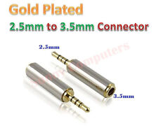 3x 2.5mm Male to 3.5mm Female 4Pole Stereo Audio Mic Jack Plug Adapter Connector