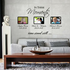 In These Moments Time Stood Still Wall Stickers Personalised Removable Decals