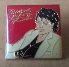"Square Red Michael Jackson Thriller Lapel Pin 1"" x 1"""