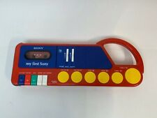 My First Sony Cassette Player Recorder Tcm 4040 Drum Animal Sound Sampler Vtg