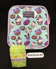 Betsey Johnson 2pc Unicorn Donut Cat Insulated Lunch Tote Bag w/ ice pack! New!