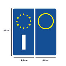 SIMBOLO ITALIA EUROPEO TARGHE AUTO ADESIVI DIMENSIONI REGOLAMENTARI STATO vg