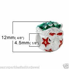 Christmas Charm Bead for European Snake Chain Charm Bracelets-3758