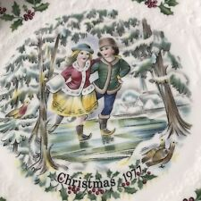 Royal Doulton 1977 Christmas Plate First Of A Series In Original Box