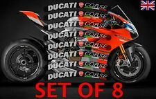 DUCATI CORSE JANTE AUTOCOLLANTS 959 996 999 Diavel Monster Panigale V4S 1299 uk