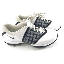 Women's Nike Air Golf Shoes Size 7 White Leather with Black Embellish 418379-100